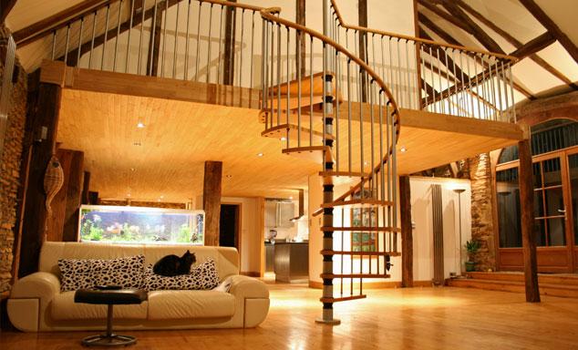 Placement libre avec les escaliers en colimaçon