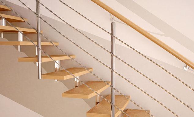 Rampe, balustrade et garde-corps pour définir un escalier à l'intérieur