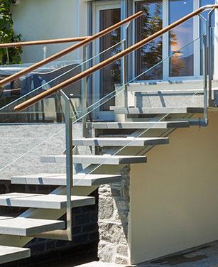 Rampe escalier extérieur