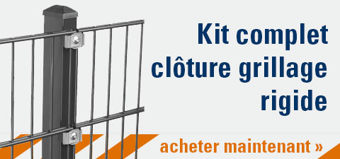 Kit complet clôture grillage rigide