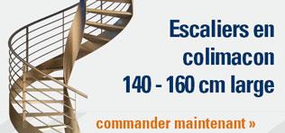 Escaliers en colimacon 140 - 160 cm large