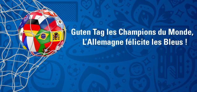 Guten Tag Champion du Monde, Félicitations de l'Allemagne