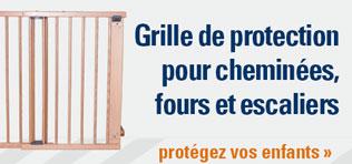 Grille de protection pour cheminées, fours et escaliers