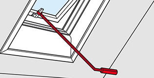 canne manoeuvre Accessoires pour fenêtre de toit