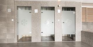 Film fenêtre cabine de douche