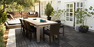 Dalle terrasse clipsable bois composite (WPC)