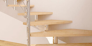 1/2 tournant Escaliers modulaires