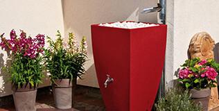 Récupérateur eau de pluie anguleux